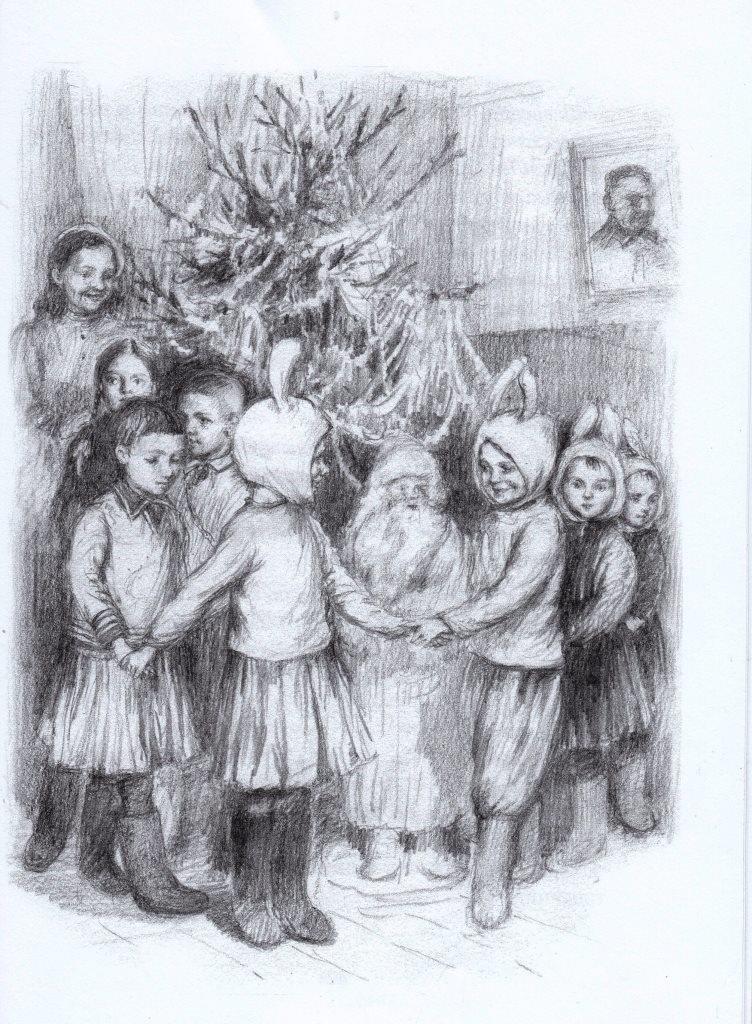 Нажмите для увеличения. Иллюстрации из книги Фонякова Э. Е. Хлеб той зимы.